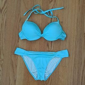 Victoria Secret Push Up Blue Bikini
